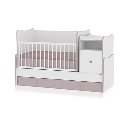 Lit b b volutif sonic lorelli - Lit bebe table a langer integree ...