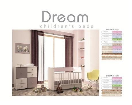 Chambre bébé Dream – lit évolutif + commode
