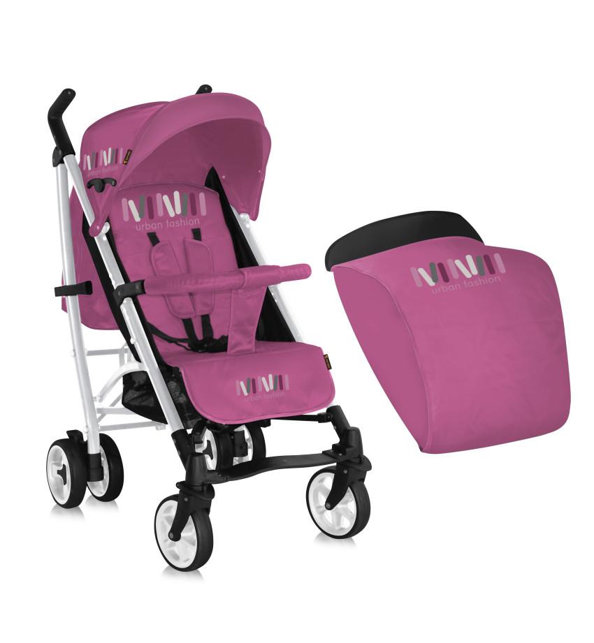 poussette canne s200 avec couvre jambes lorelli rose. Black Bedroom Furniture Sets. Home Design Ideas